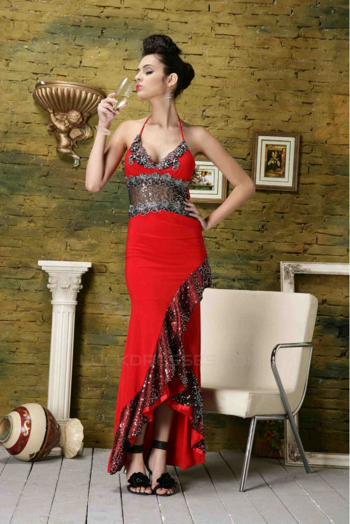 Sexy Halter Prom Evening Party Dresses 02020989