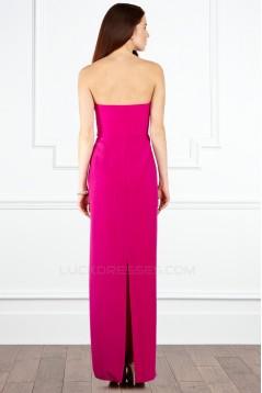 Sheath/Column Long Chiffon Prom Evening Party Bridesmaid Dresses 02020991