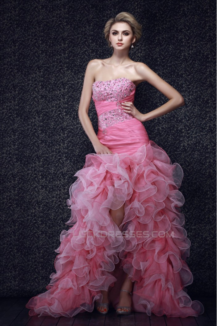 Beaded Strapless Long Prom Evening Party Dresses 02020993