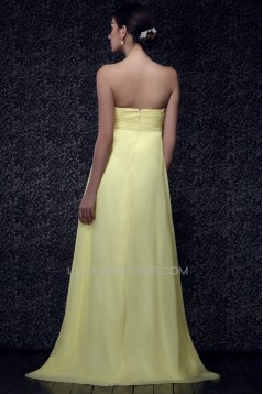 Empire Sweetheart Long Chiffon Prom Evening Party Maternity Dresses 02020995