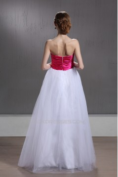 A-Line Strapless Long Prom Evening Party Dresses 02020996
