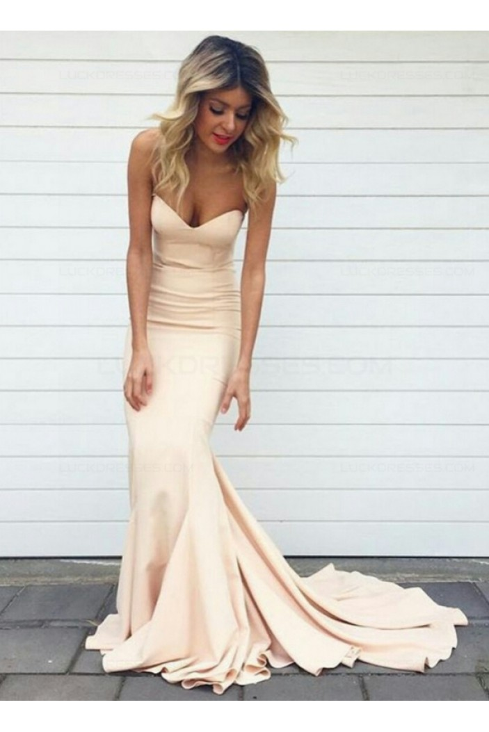 Trumpet/Mermaid Sweetheart Long Prom Evening Formal Dresses 3020026