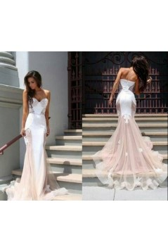 Trumpet/Mermaid Sweetheart Lace Long Prom Evening Formal Dresses 3020035