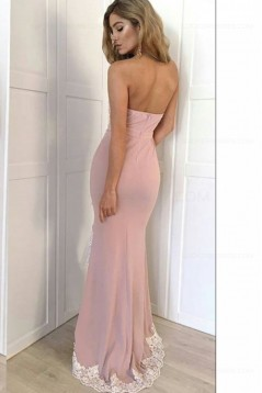 Mermaid Sweetheart Lace Side Slit Long Prom Evening Formal Dresses 3020045