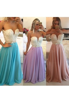 Long See Through Prom Evening Formal Dresses 3020089
