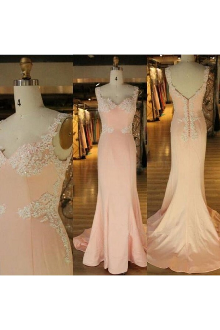 Mermaid Lace Appliques Long Prom Formal Evening Party Dresses 3021021