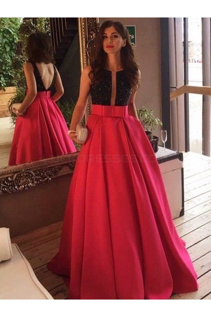 Beaded Long Prom Formal Evening Party Dresses 3021034