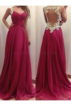 Long Chiffon Prom Formal Evening Party Dresses 3021071