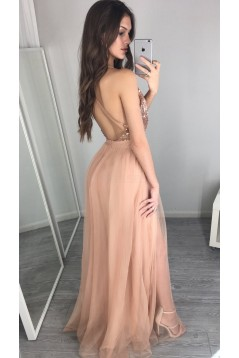 Long Red Spaghetti Straps Prom Formal Evening Party Dresses 3021077