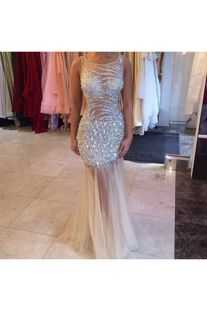 Mermaid Beaded Long Prom Formal Evening Party Dresses 3021091