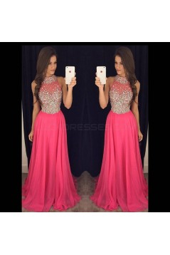 Beaded Long Chiffon Prom Formal Evening Party Dresses 3021094