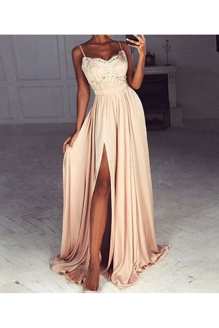 Lace Spaghetti Straps Prom Formal Evening Party Dresses 3021101