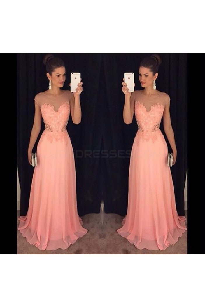Long Lace and Chiffon Prom Formal Evening Party Dresses 3021108