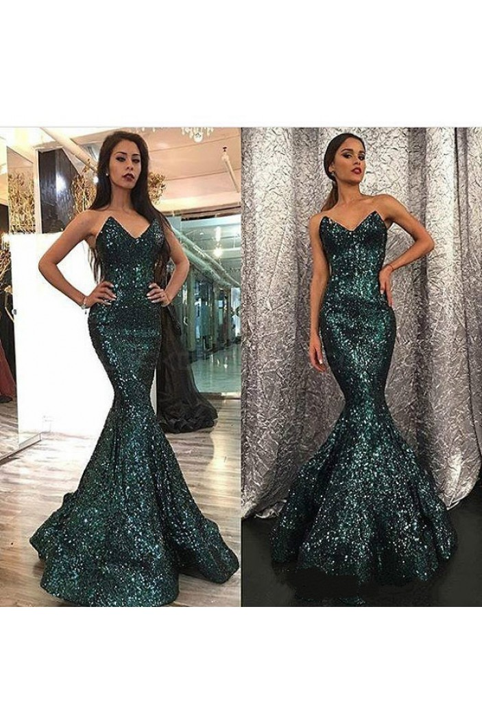 Mermaid Sequins Long Prom Formal Evening Party Dresses 3021117