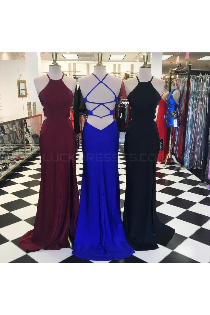 Long Spaghetti Straps Prom Formal Evening Party Dresses 3021172