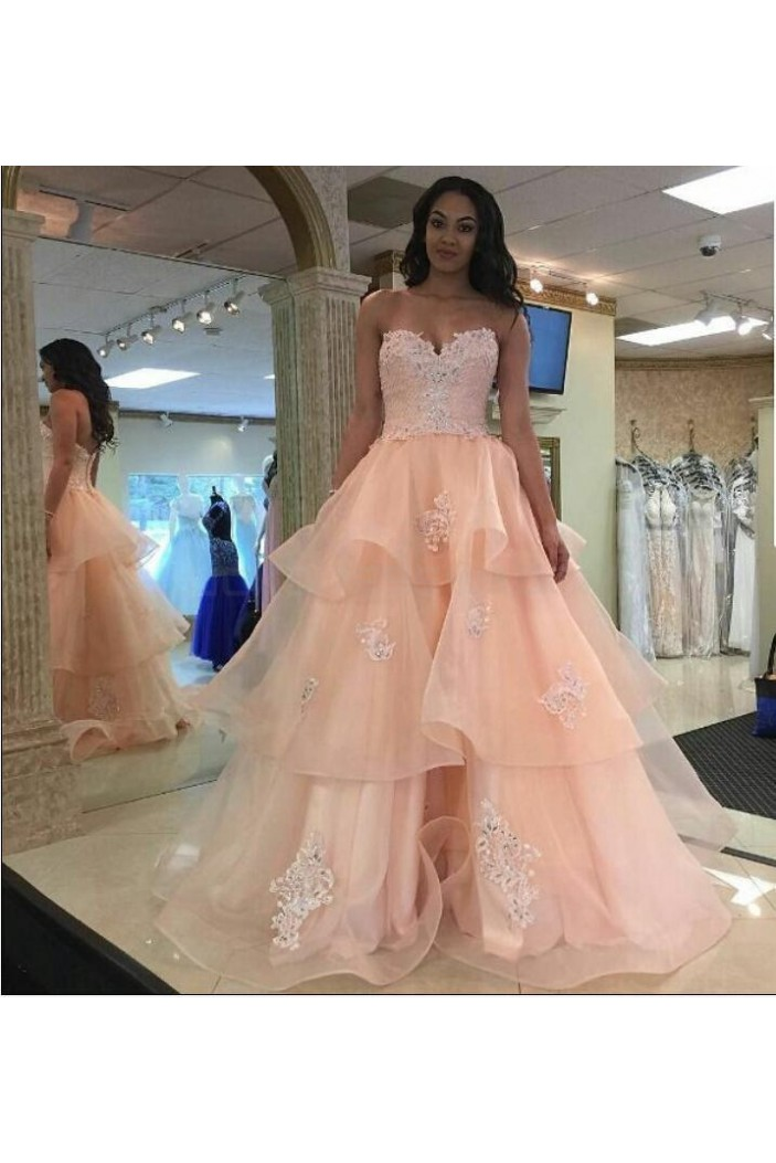 A-Line Sweetheart Lace Long Prom Formal Evening Party Dresses 3021175