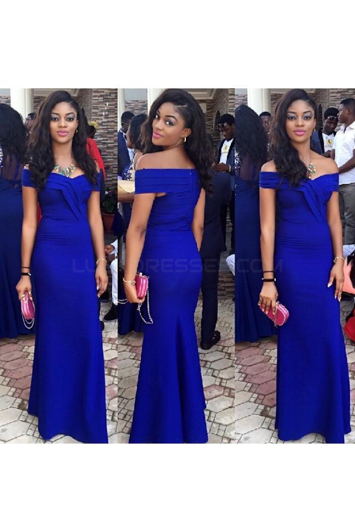 Long Blue Off-the-Shoulder Prom Formal Evening Party Dresses 3021180