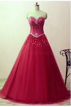 A-Line Beaded Long Prom Formal Evening Party Dresses 3021202