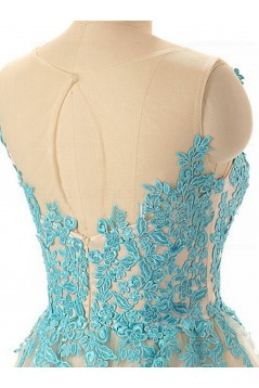 A-Line Off-the-Shoulder Lace Appliques Prom Evening Homecoming Cocktail Dresses 3020121
