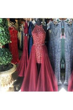 High Low Beaded Sequins Prom Formal Evening Party Dresses 3021213