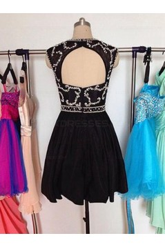 Beaded Short Black Prom Evening Homecoming Cocktail Dresses 3020122