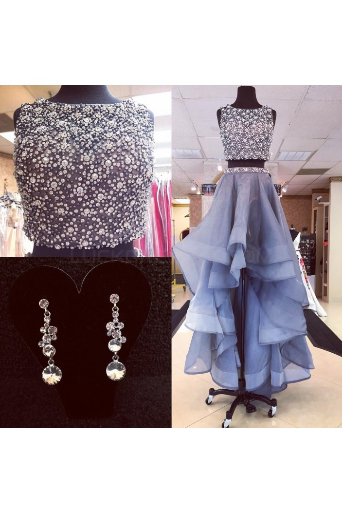 Beaded Two Pieces Prom Homecoming Cocktail Graduation Dresses 3021226