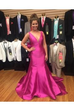 Long V-Neck Prom Formal Evening Party Dresses 3021245
