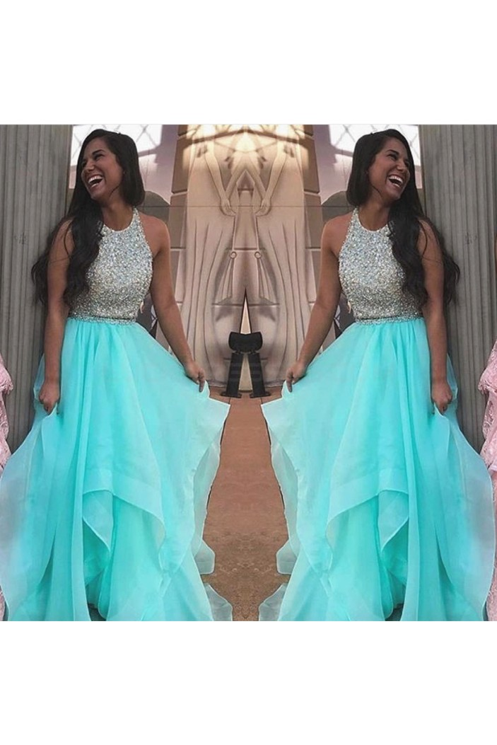 Two Pieces Beaded Prom Formal Evening Party Dresses 3021246