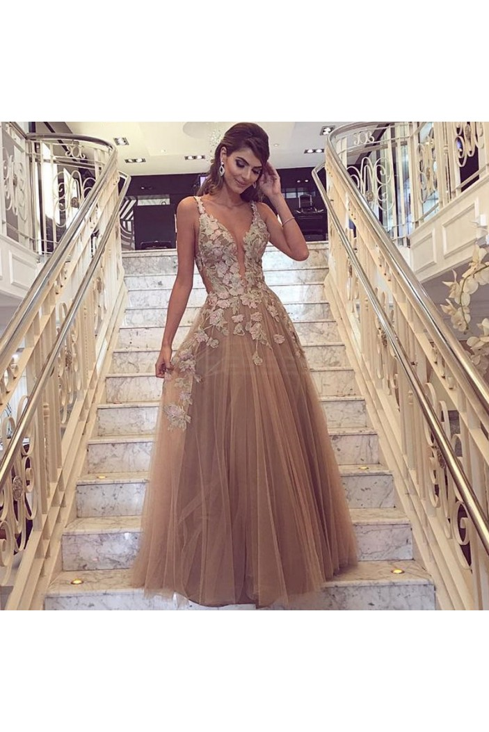 Sexy Long Tulle Prom Formal Evening Party Dresses 3021247