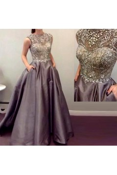Beaded Long Prom Formal Evening Party Dresses 3021257