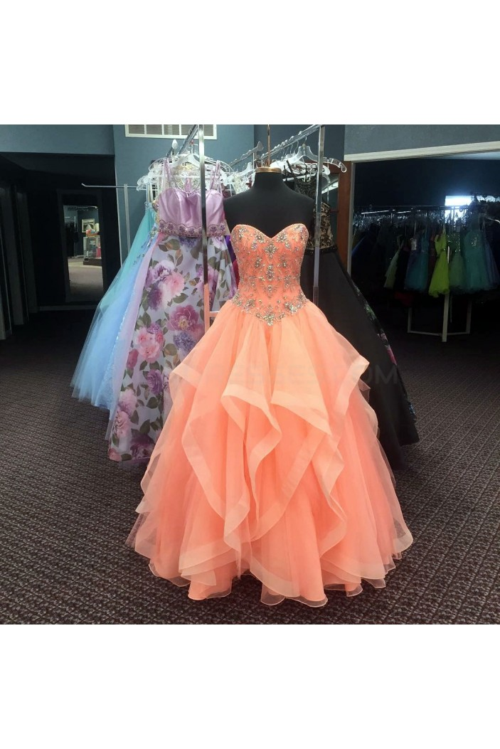 Beaded Ball Gown Sweetheart Long Prom Formal Evening Party Dresses 3021271