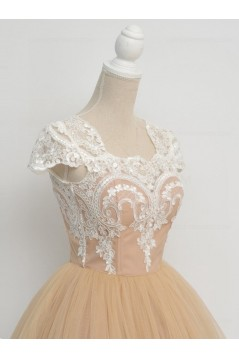 Cap-Sleeves Short Lace Appliques Tulle Prom Evening Homecoming Cocktail Dresses 3020130