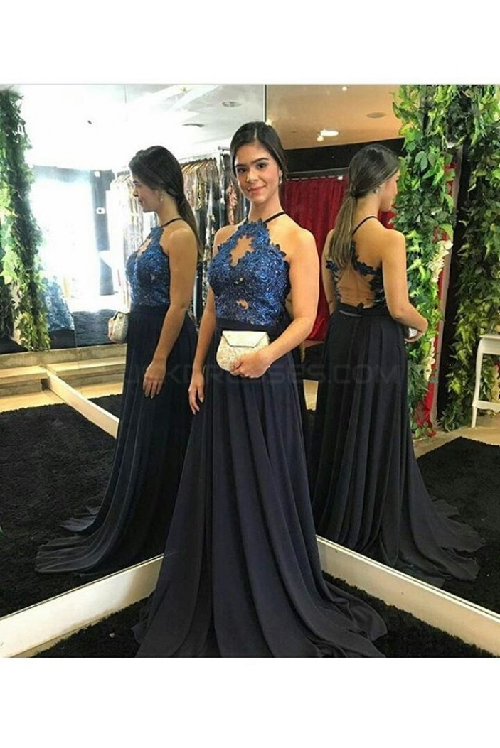 Lace and Chiffon Two Pieces Prom Formal Evening Party Dresses 3021315