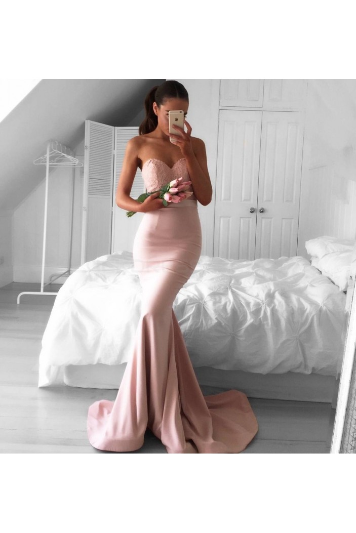 Mermaid Sweetheart Lace Prom Formal Evening Party Dresses 3021325