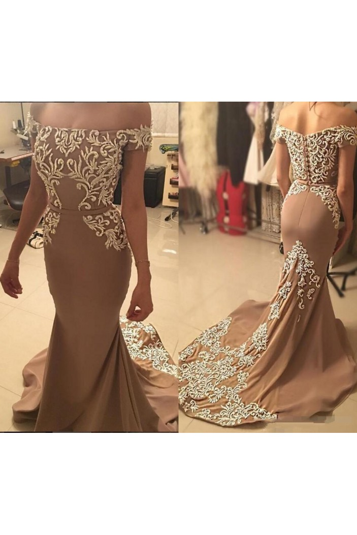 Mermaid Off-the-Shoulder Prom Formal Evening Party Dresses 3021333