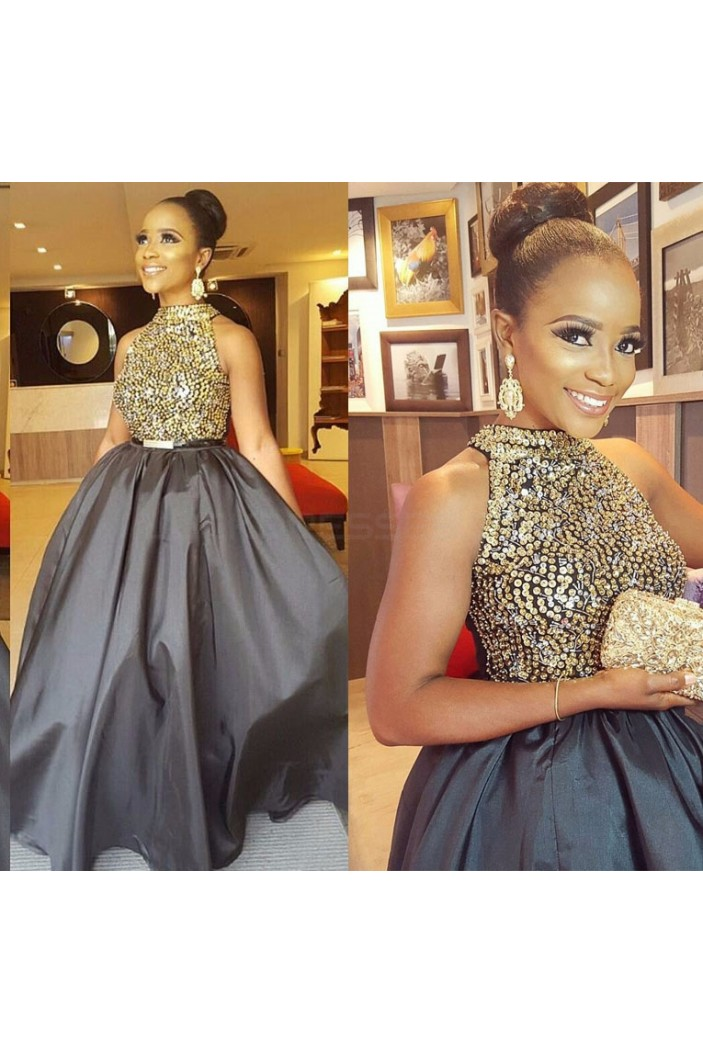 Beaded Ball Gown Long Silver Prom Formal Evening Party Dresses 3021345
