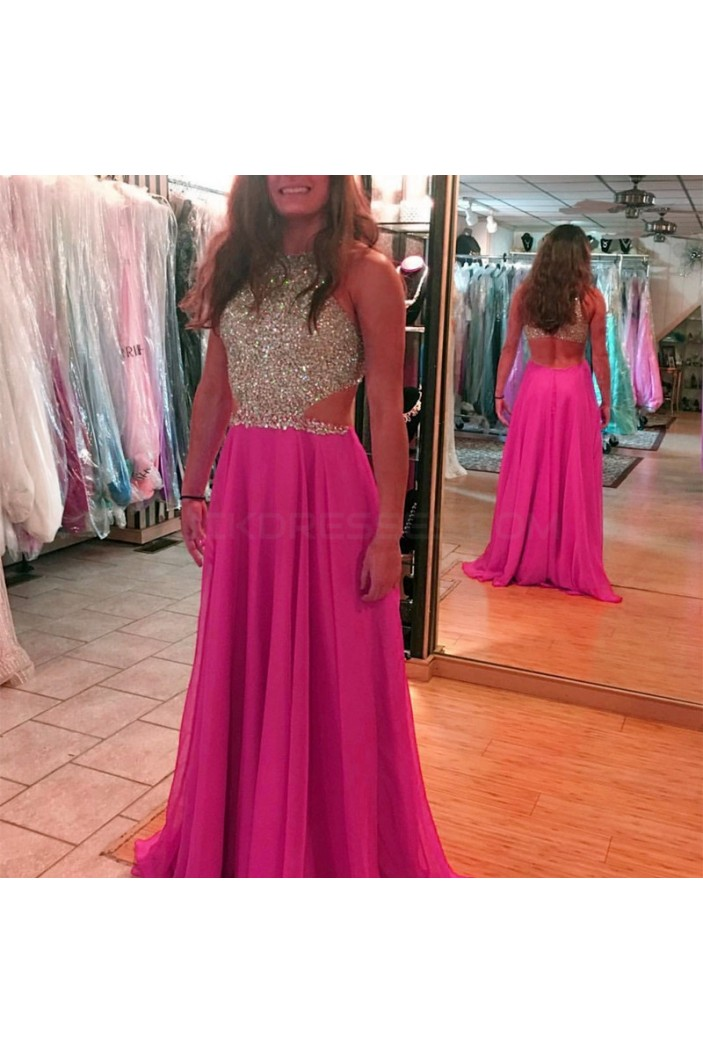 Beaded Chiffon Long Prom Formal Evening Party Dresses 3021353