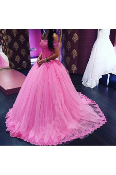 Ball Gown Lace Off-the-Shoulder Prom Formal Evening Party Dresses 3021356