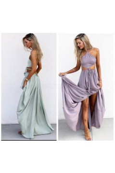 Sexy Two Pieces Long Prom Formal Evening Party Dresses 3021391