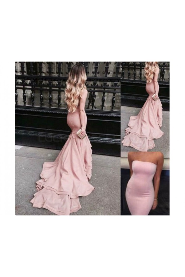 Mermaid Strapless Long Prom Formal Evening Party Dresses 3021395