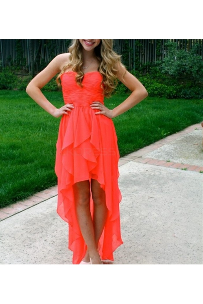 High Low Chiffon Short Prom Formal Evening Party Dresses 3021415