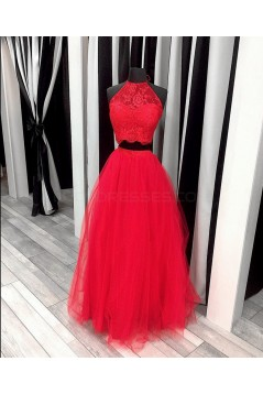 Two Pieces Lace and Tulle Prom Formal Evening Party Dresses 3021422