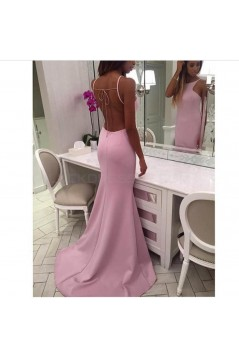Long Pink Mermaid Prom Formal Evening Party Dresses 3021424