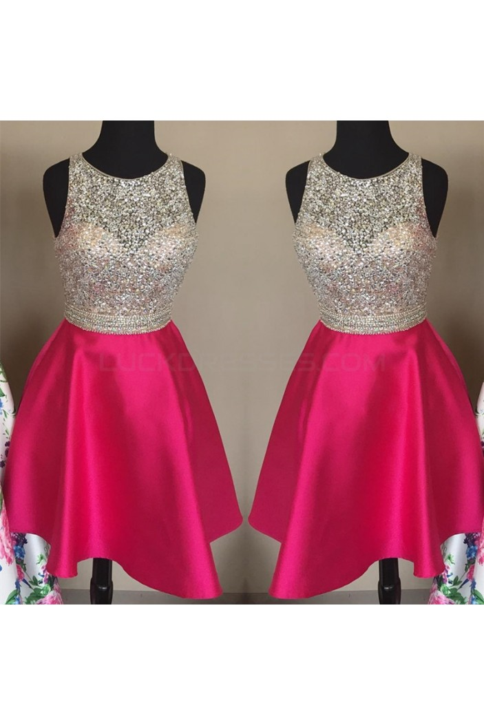 A-Line Beaded Short Prom Formal Evening Party Dresses 3021441