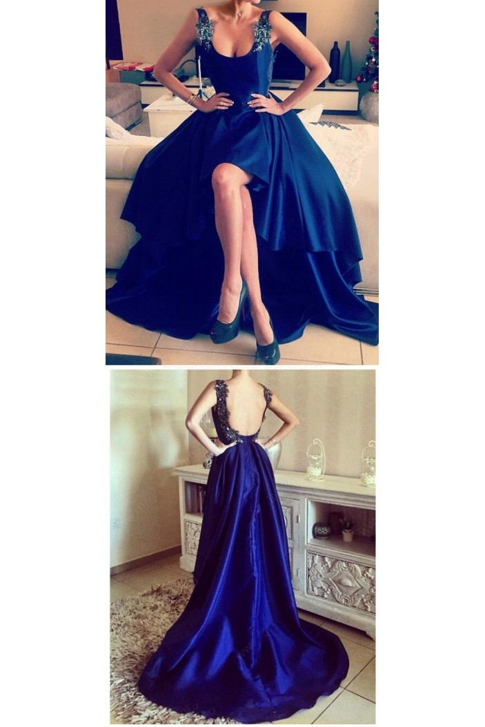 High Low Blue Prom Homecoming Cocktail Graduation Dresses 3021443