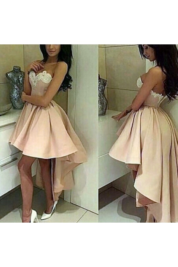 High Low Sweetheart Lace Prom Homecoming Cocktail Graduation Dresses 3021446
