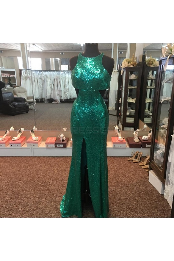 Long Green Sequins Prom Formal Evening Party Dresses 3021448