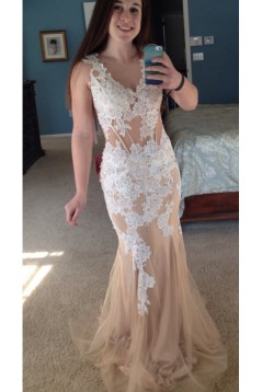 Mermaid Lace Long Prom Formal Evening Party Dresses 3021455