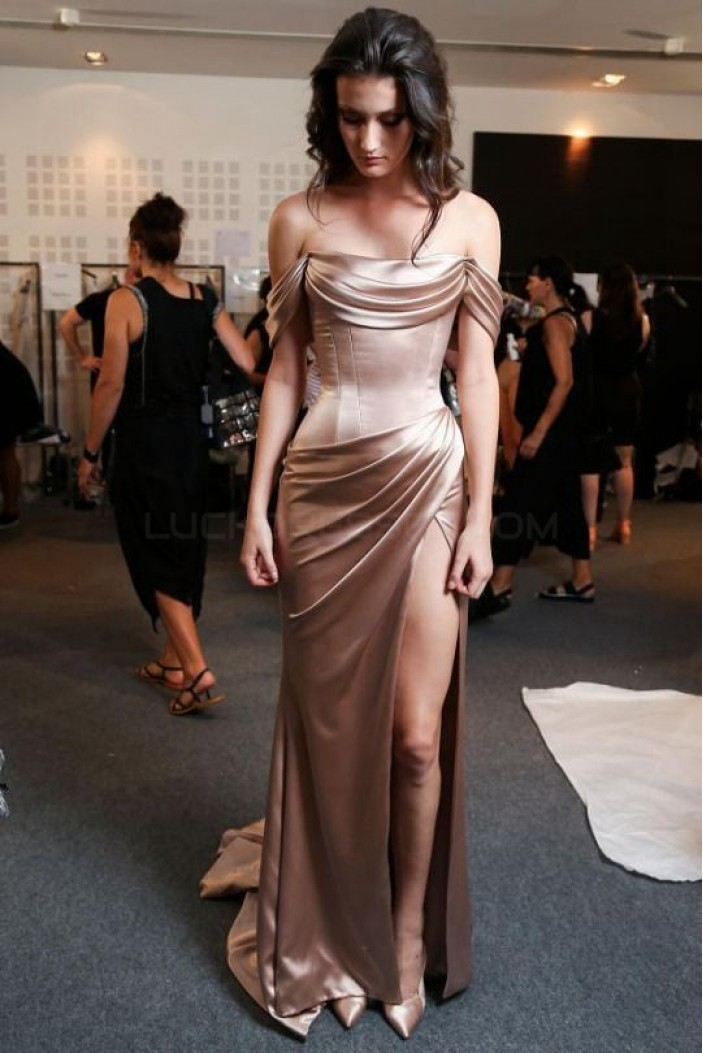 Sheath Off-the-Shoulder Long Prom Formal Evening Party Dresses 3021457
