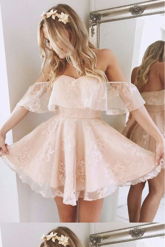 Short Lace Prom Homecoming Cocktail Graduation Dresses 3021459